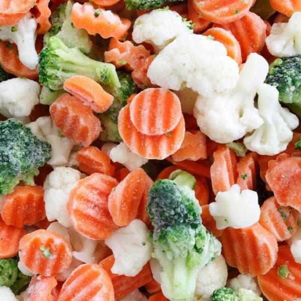 Frozen products Vegetables, poultry, French fries, wedges, croquettes, fish, seafood, meat, potato pancakes, dumplings